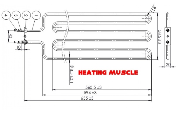 Sauna heater element 3500W