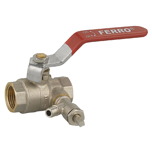 Ball valve with drain female - female