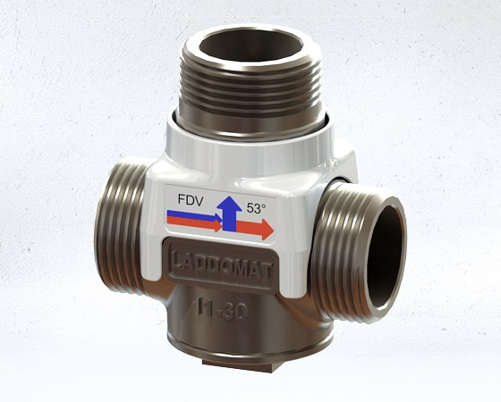 Laddomat 11-100 Thermostatic valve 63C for wooden boiler