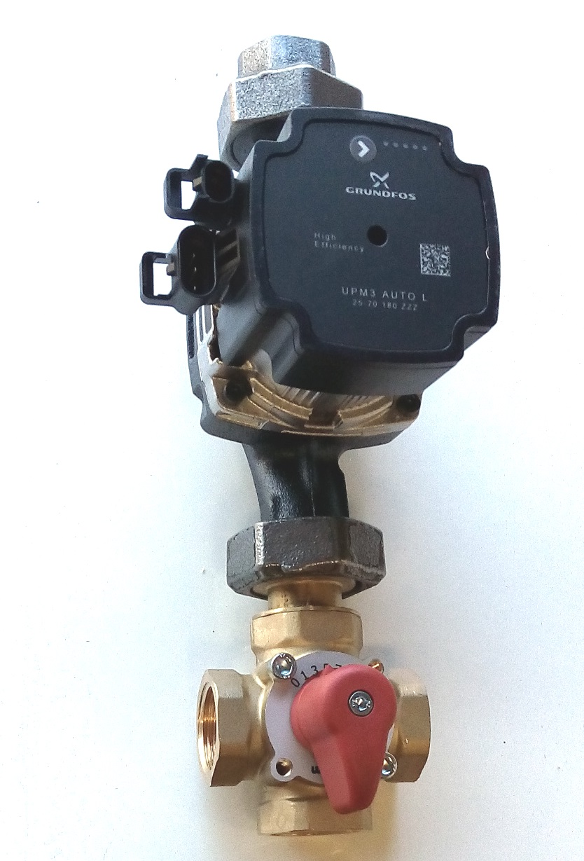 Pump station Grundfos UPM3 Auto L 25 70 + 4-way valve