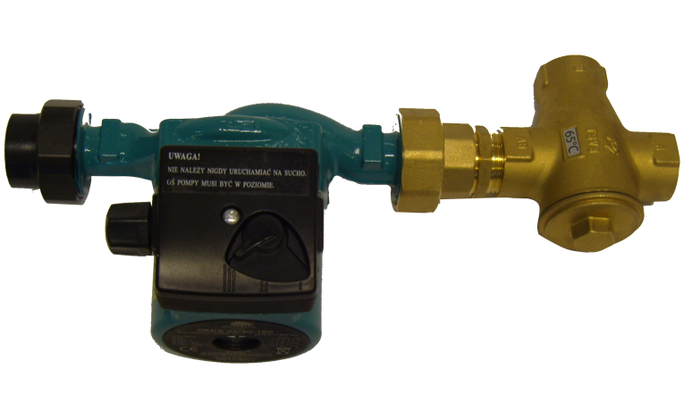 A-Pump gruop for wooden boiler