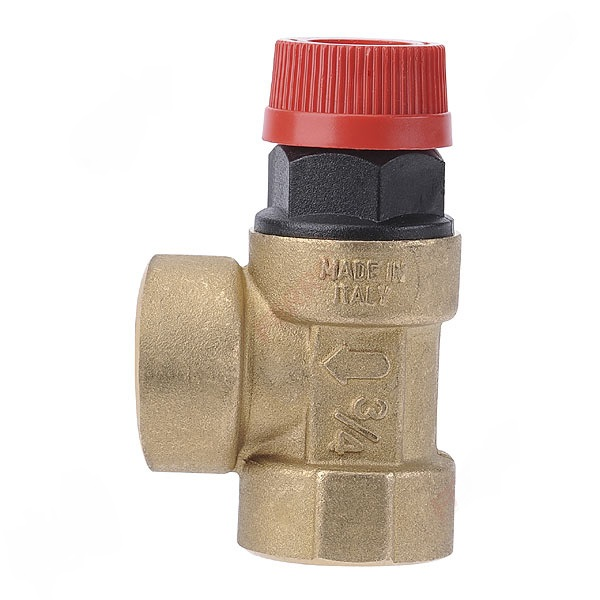 Safety valve for central heating and DHW installation 1/2""