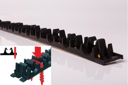 Rail for pipes 15-20 mm Spacing 50mm